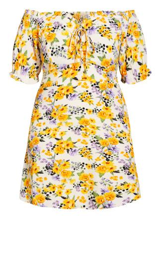 Flirty Floral Dress - ivory