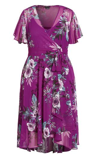 Botanica Berry Wrap Dress - magenta