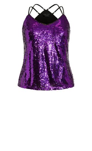 Glimmer Top - violet