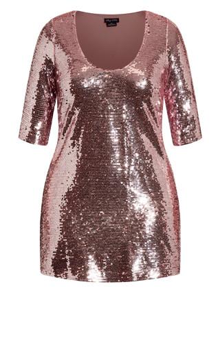 Sequin Glow Dress - blush