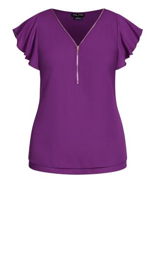 Zip Fling Top - purple