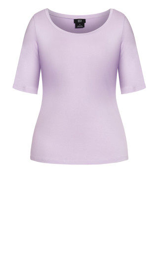 Off Shoulder Tee - lilac