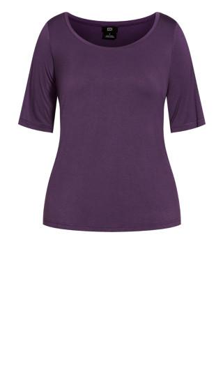 Off Shoulder Tee - violet