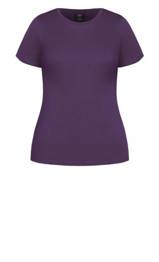 Basic Longline Tee - violet