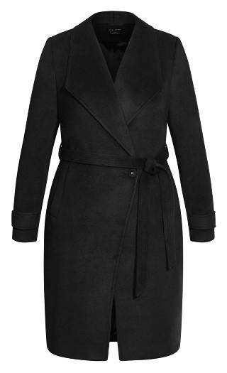 So Sleek Coat - black