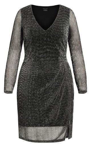 Sparkle Dress - gunmetal