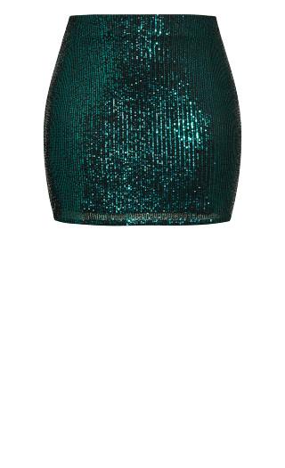 Razzle Skirt - emerald