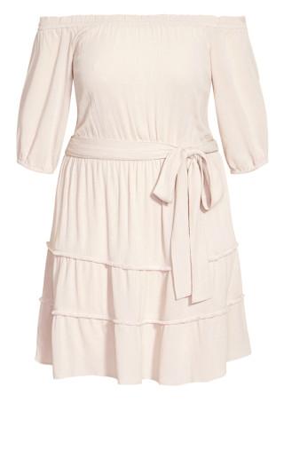 Fiesta Fringe Dress - ecru