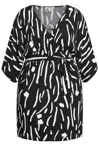 Day Date Mini Dress - black print