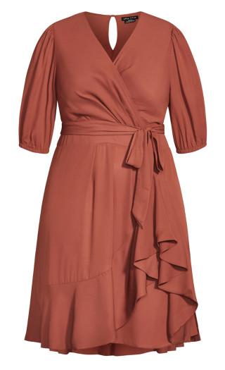 Captivate Dress - cinnamon