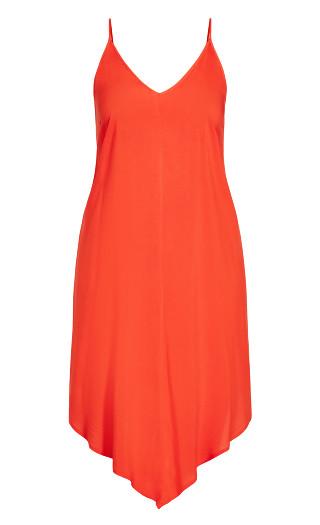 Sweet V Dress - papaya