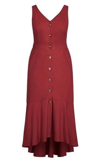 Sweetie Button Maxi Dress - port