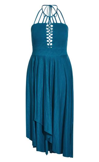 Plait Detail Maxi Dress - poseidon