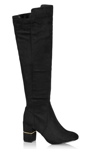 Priscilla Suede Boot - black