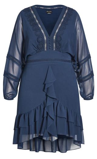 Sweetheart Dress - navy