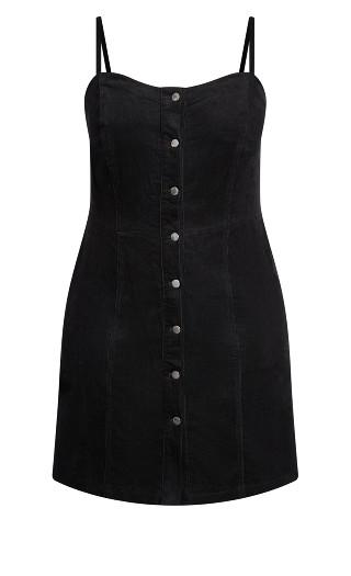 Sweet Corduroy Dress - black