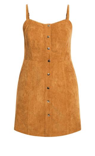Sweet Corduroy Dress - caramel