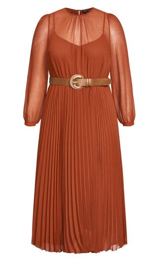 Love Pleat Dress - ginger