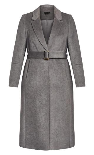 Belissima Wool Blend Coat - charcoal