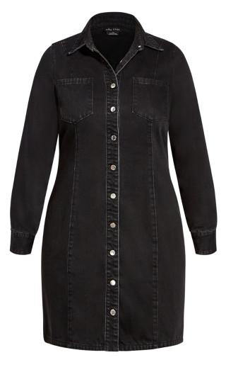 Denim Lust Dress - washed black