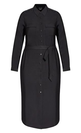Belted Love Dress - black