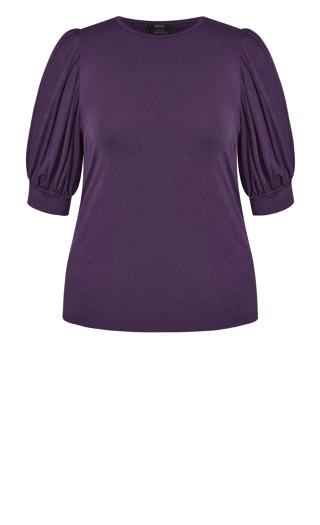 Sweet Sleeve Top - violet