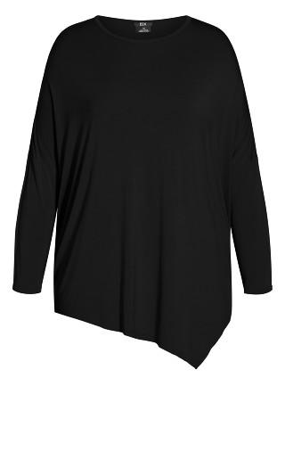 Simple Batwing Top - black