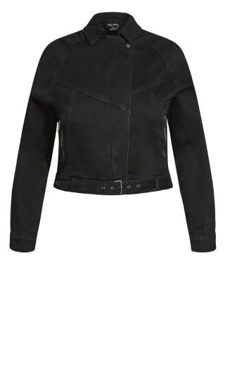 Retro Denim Jacket - washed black