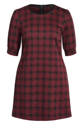 Check Love It Dress - red