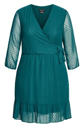 Dobby Ruffles Dress - alpine
