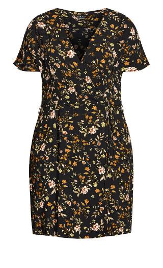 Autumn Ditsy Dress - black