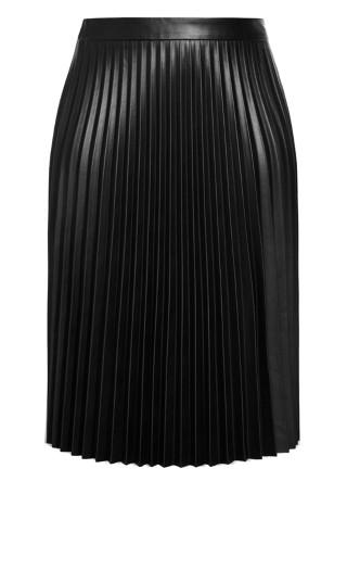 Pleated Nights Skirt - black