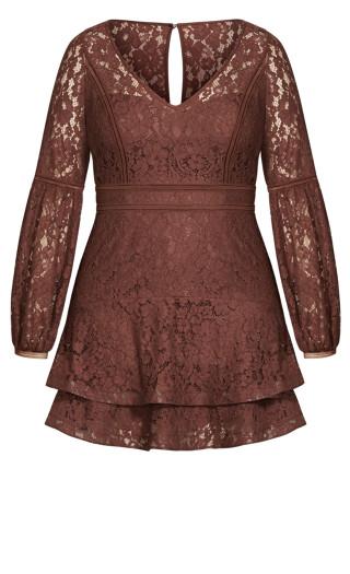 Lace Legacy Dress - amaretto