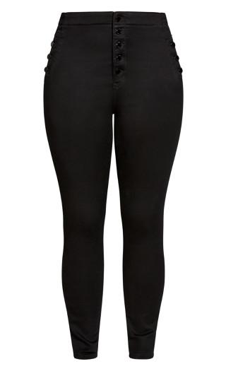 Side Buttons Jean - black