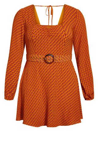 Retro Chic Dress - orange