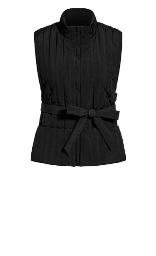 Sleek Tie Vest - black