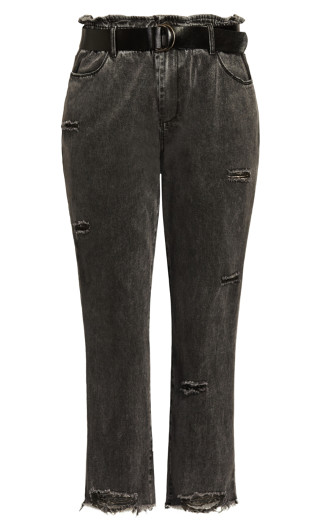 Belted Skinny Jean - black wash