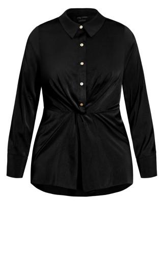 Slinky Mink Shirt - black