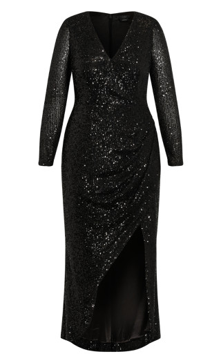 Glimmer Nights Maxi Dress - black