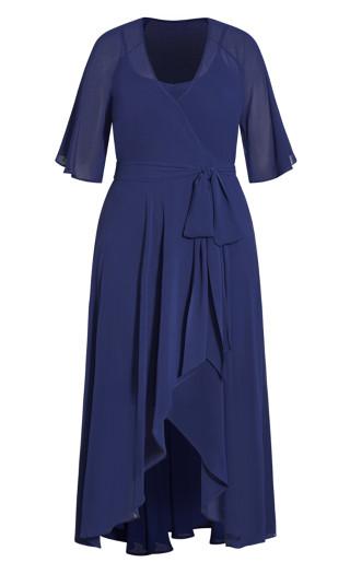 Enthral Me Maxi Dress - deep blue