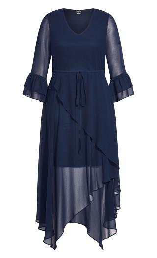 Hidden Treasure Maxi Dress - navy