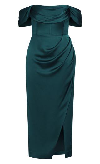 Forbidden Love Maxi Dress - emerald