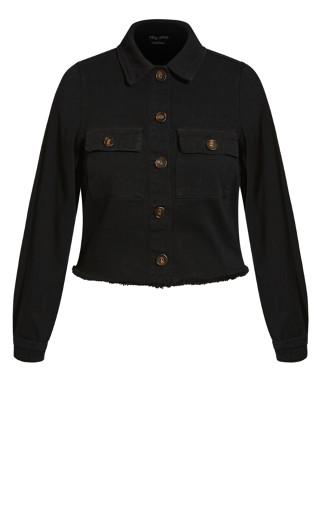 Fray Away Jacket - black