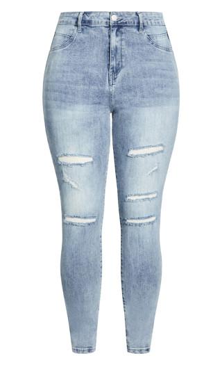 Rock N Roll Skinny Jean - light wash