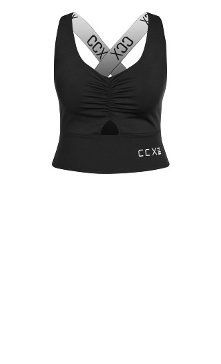 Knock Out Crop Top - black