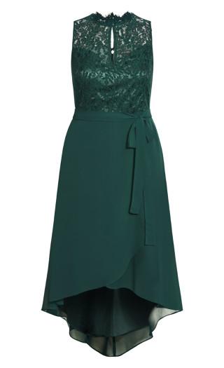 Hi Lo Lover Dress - jade