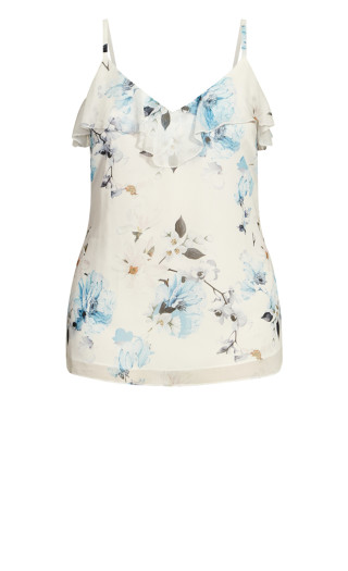 Shy Orchid Top - ivory