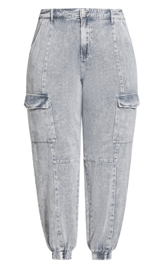 Tapered Cargo Jean - grey