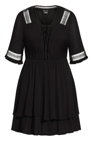 Bring The Heat Dress - black