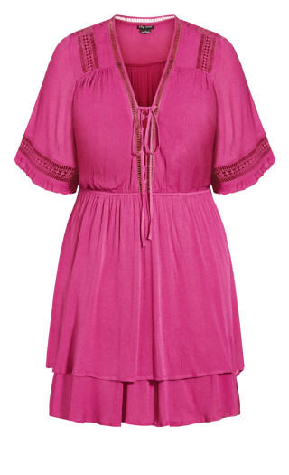 Bring The Heat Dress - fuchsia